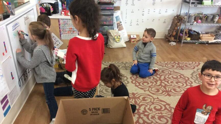 KLA Schools of Plainfield gives pajamas and books